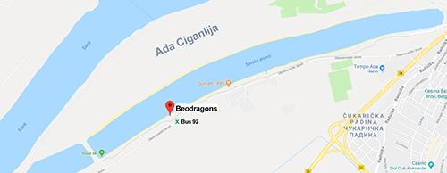 Google Maps Beodragons location
